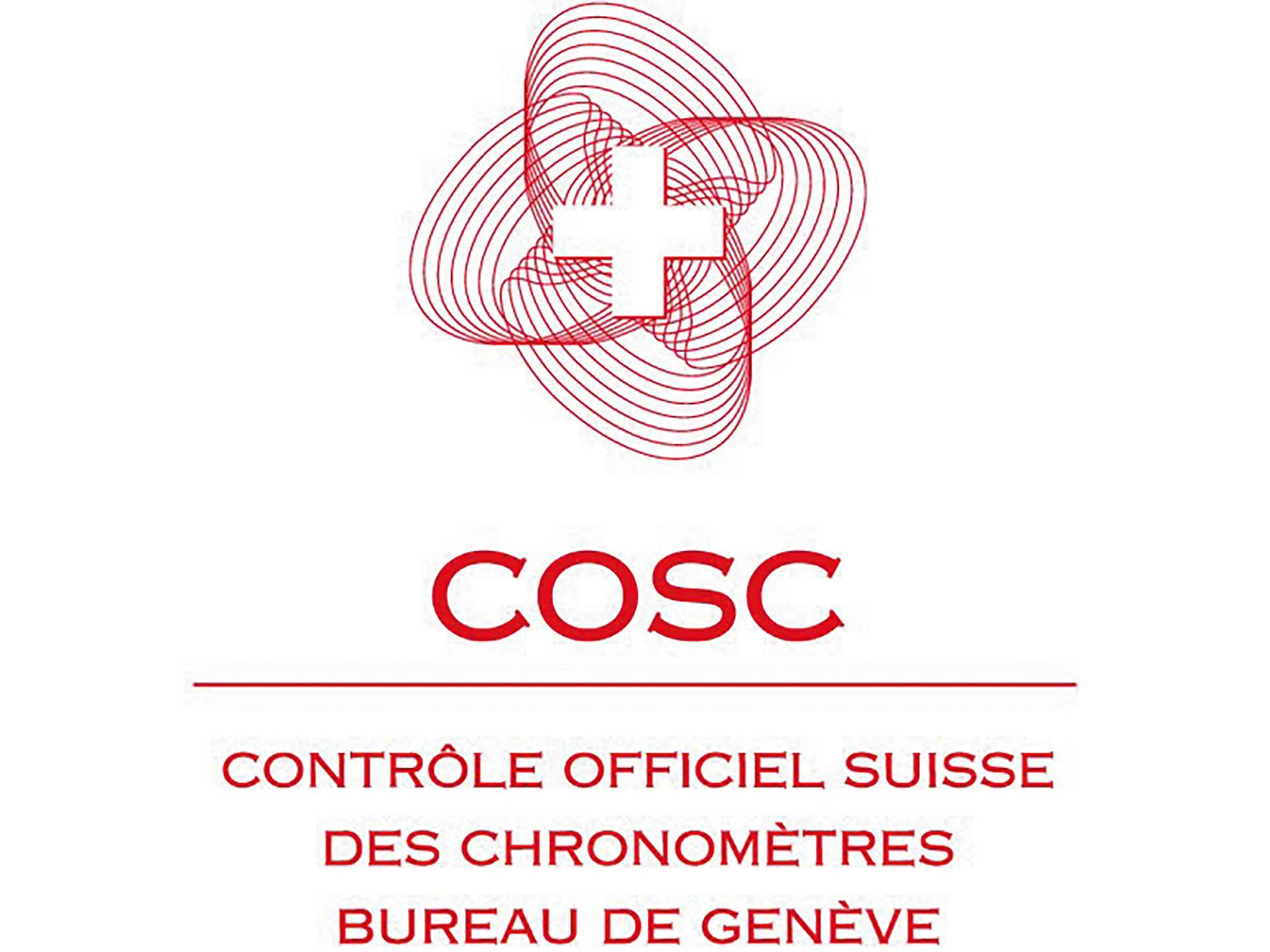 Das offizielle Logo des Instituts Contrôle Officiel Suisse des Chronomètres (COSC).