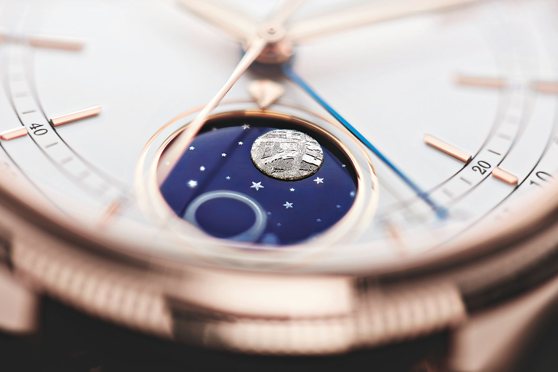Rolex Cellin Moonphase Detail, Mondphase
