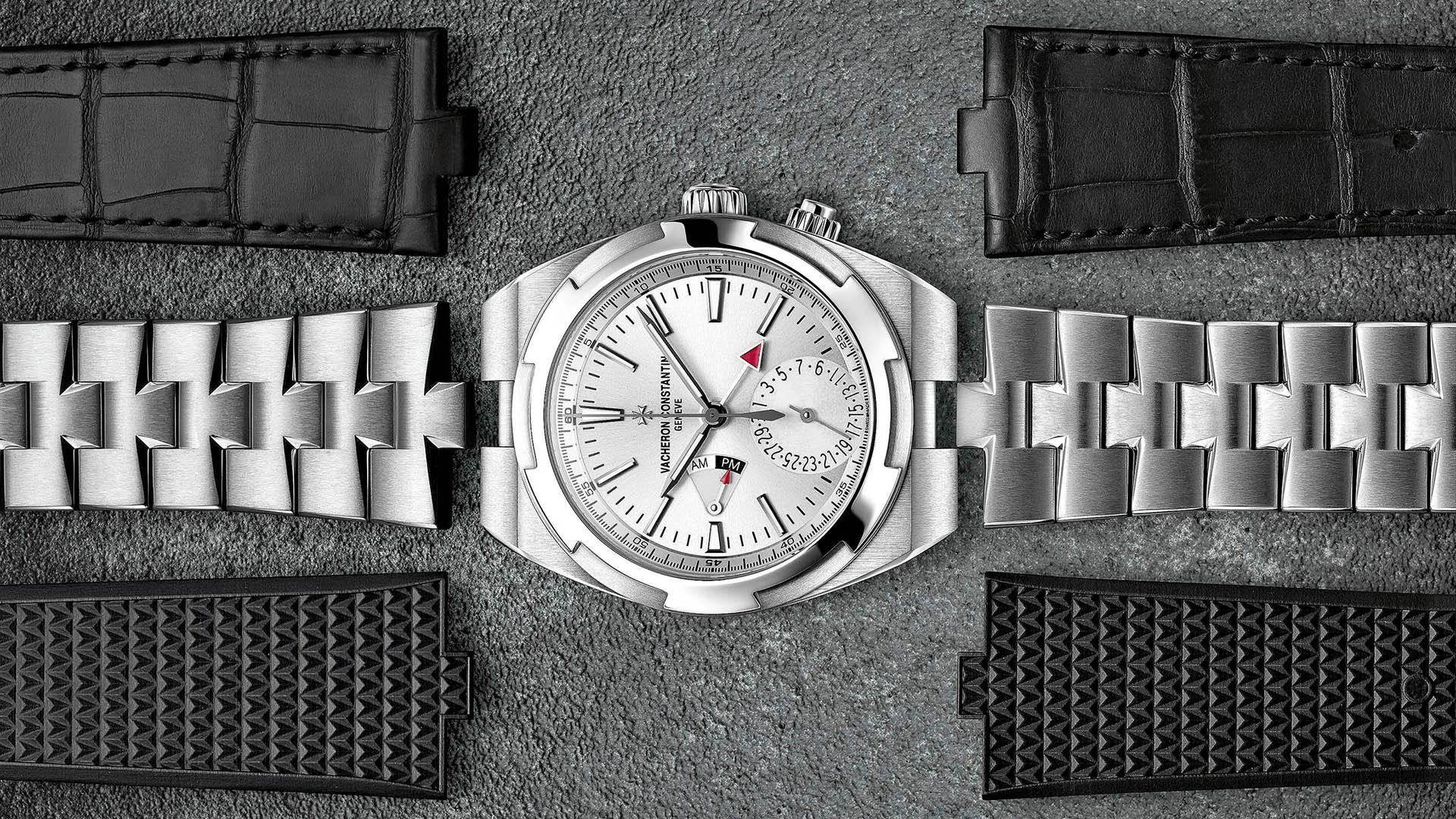 Vacheron Constantin Overseas Dual Time Edelstahl mit Wechselbändern