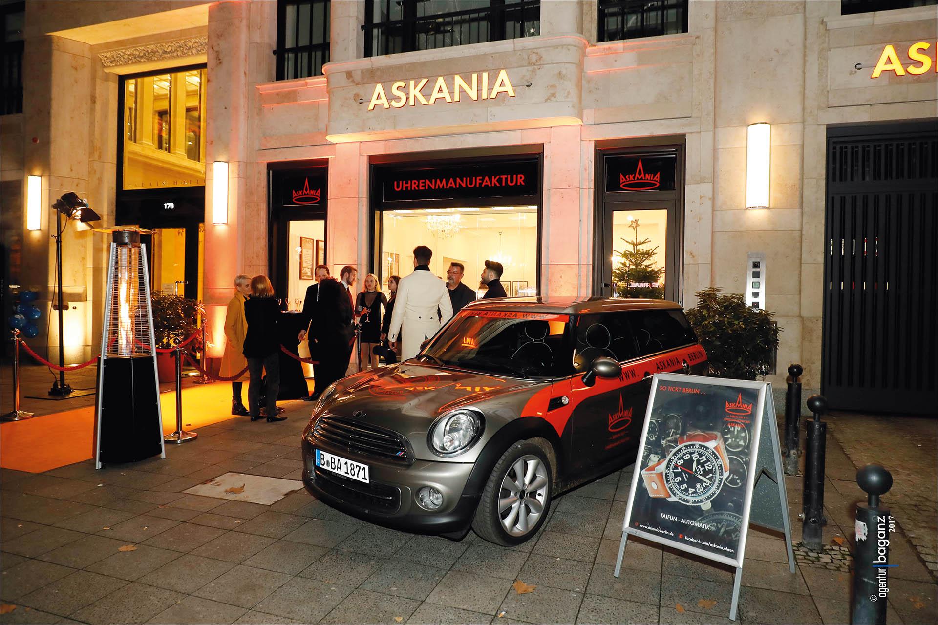 Eröffnung Askania-Boutique am Ku'damm