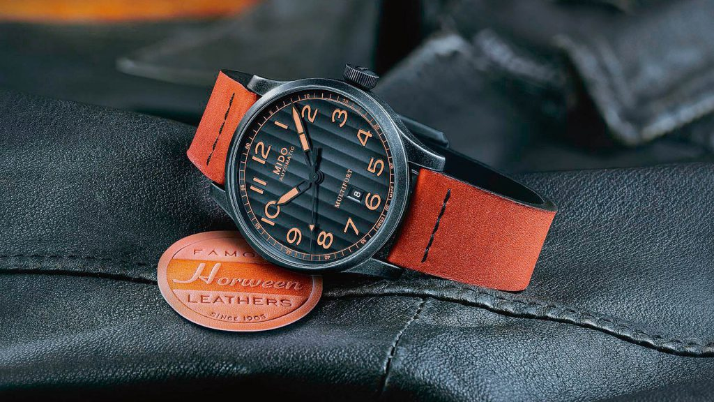 Mido Multifort Escape Horween Special Edition Raulederband