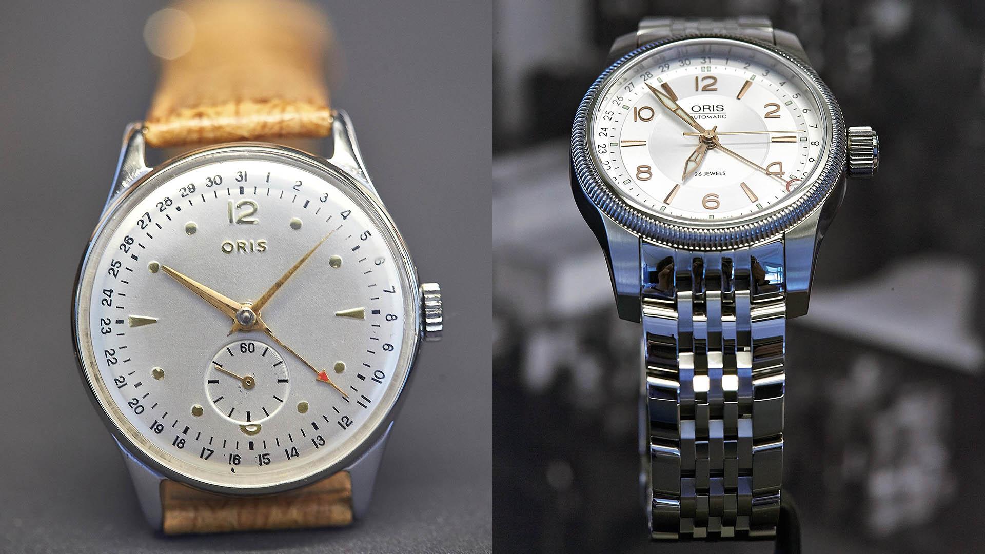Oris Armbanduhr mit Zeigerdatum, 1970er / 1980er, Uhrenhersteller