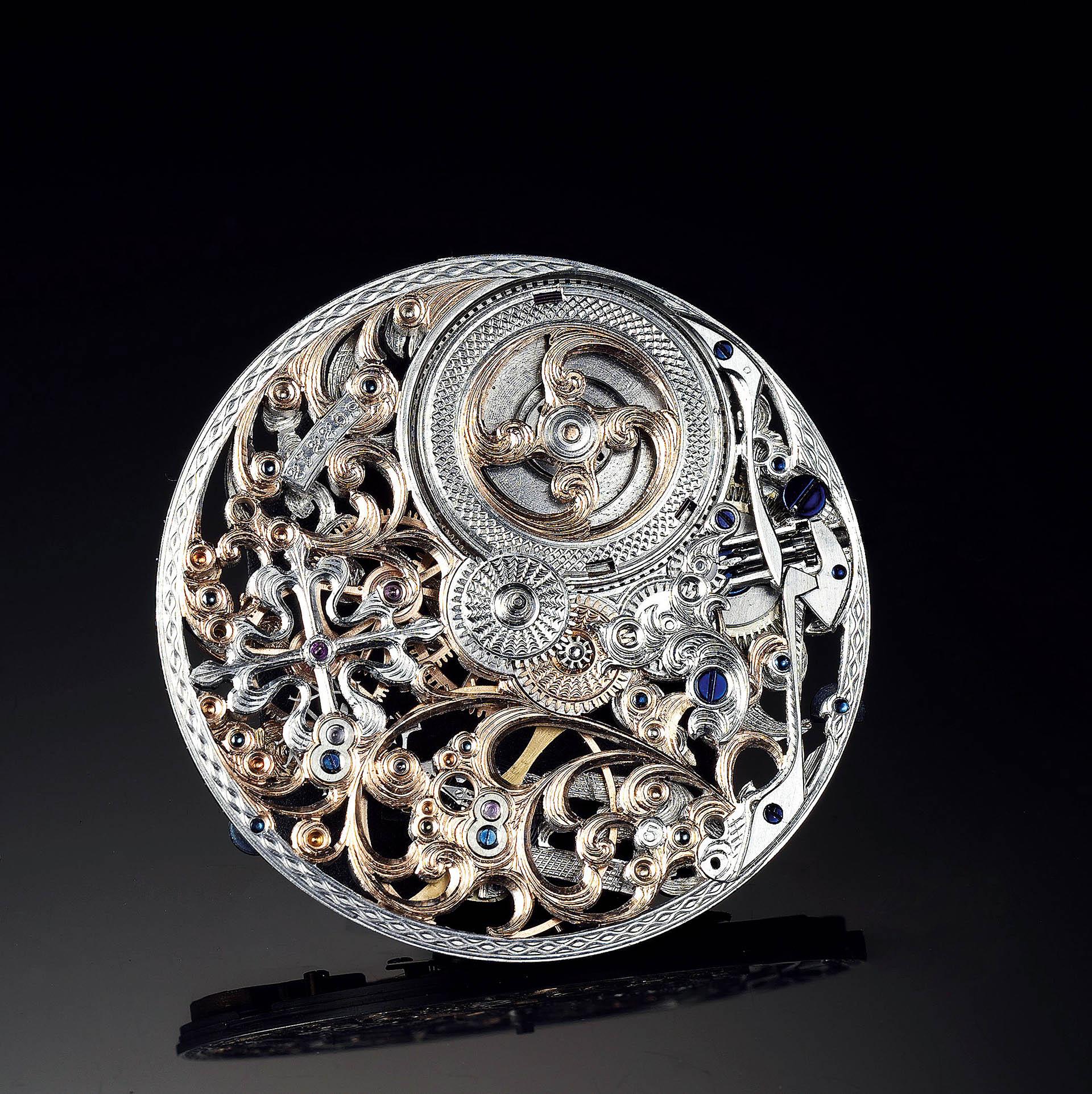 Historisches Uhrwerk von Patek Philippe, veredelt von Jochen Benzinger.