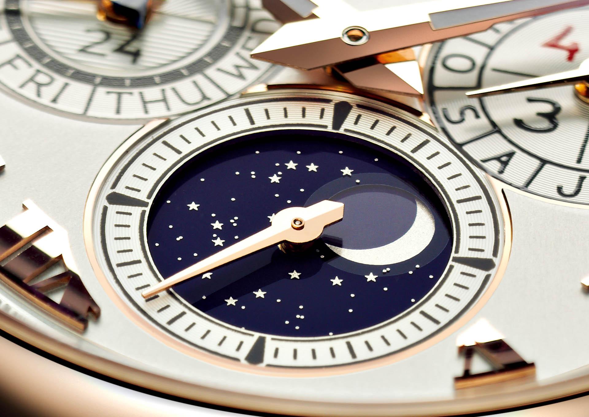 L.U.C Lunar One von Chopard mit besonders präziser Mondphasenanzeige.