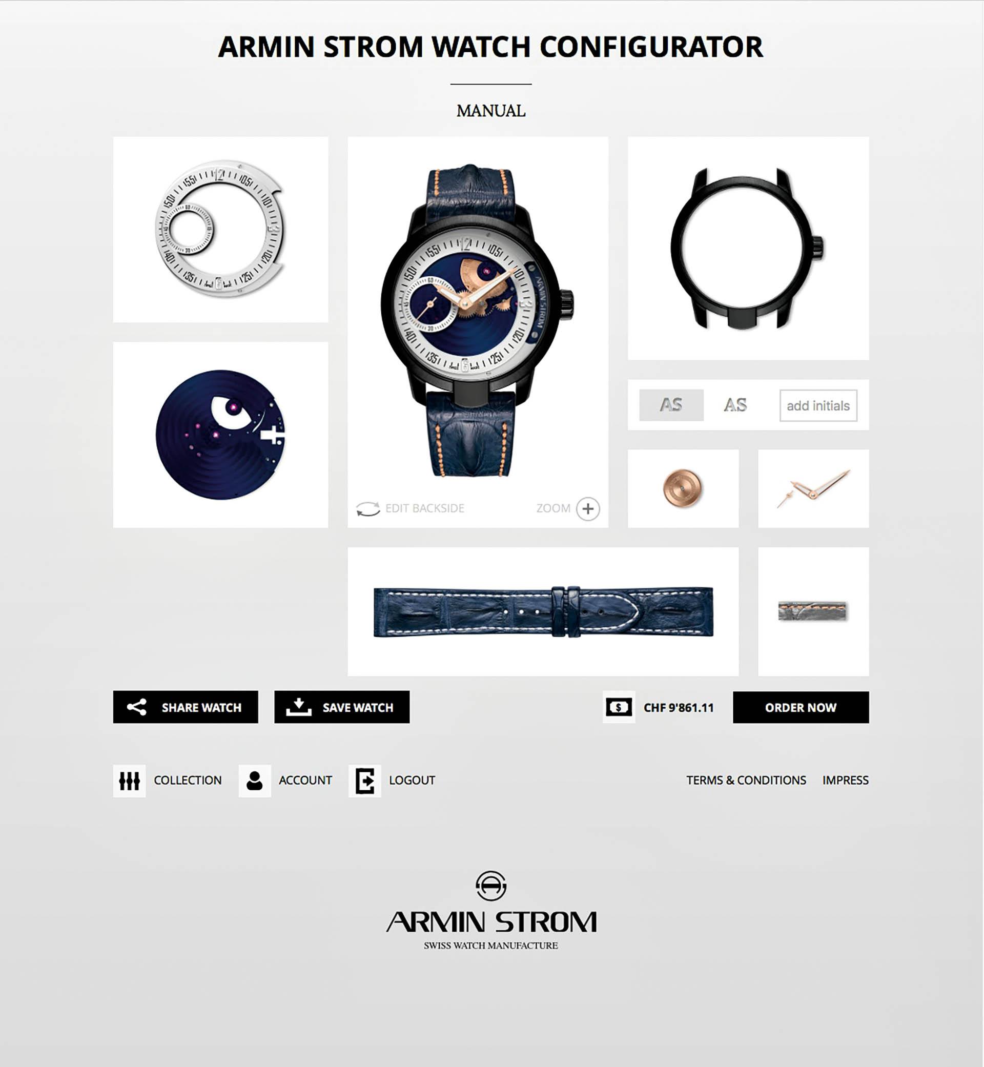 Da alle wesentlichen Teile von Uhrwerk und Gehäuse aus der eigenen Manufaktur stammen, können bei Armin Strom fast alle Wünsche berücksichtigt werden.