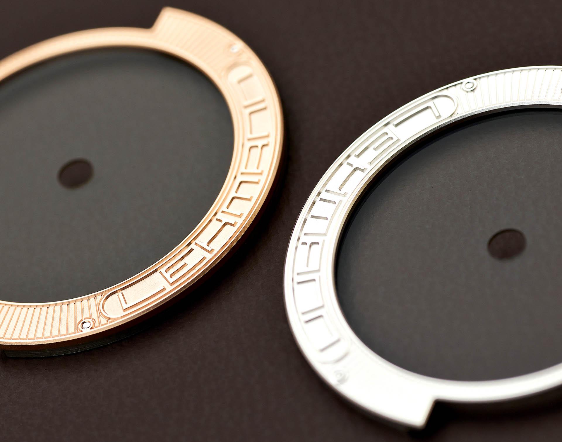 Ausgefallenes Detail: Der Saphirglasrotor auf den Lehmann-Kalibern sorgt für Durchblick auf das Uhrwerk