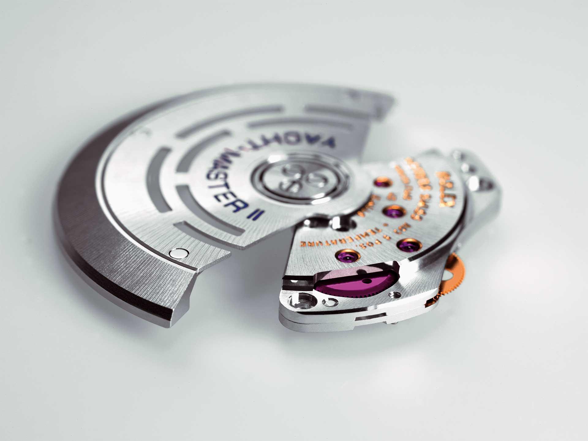 Das moderne Automatikmodul aktueller Rolex-Kaliber mit Selbstaufzugsmechanismus.