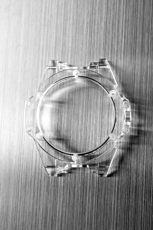 Uhrgehäuse aus Saphirglas von Hublot.