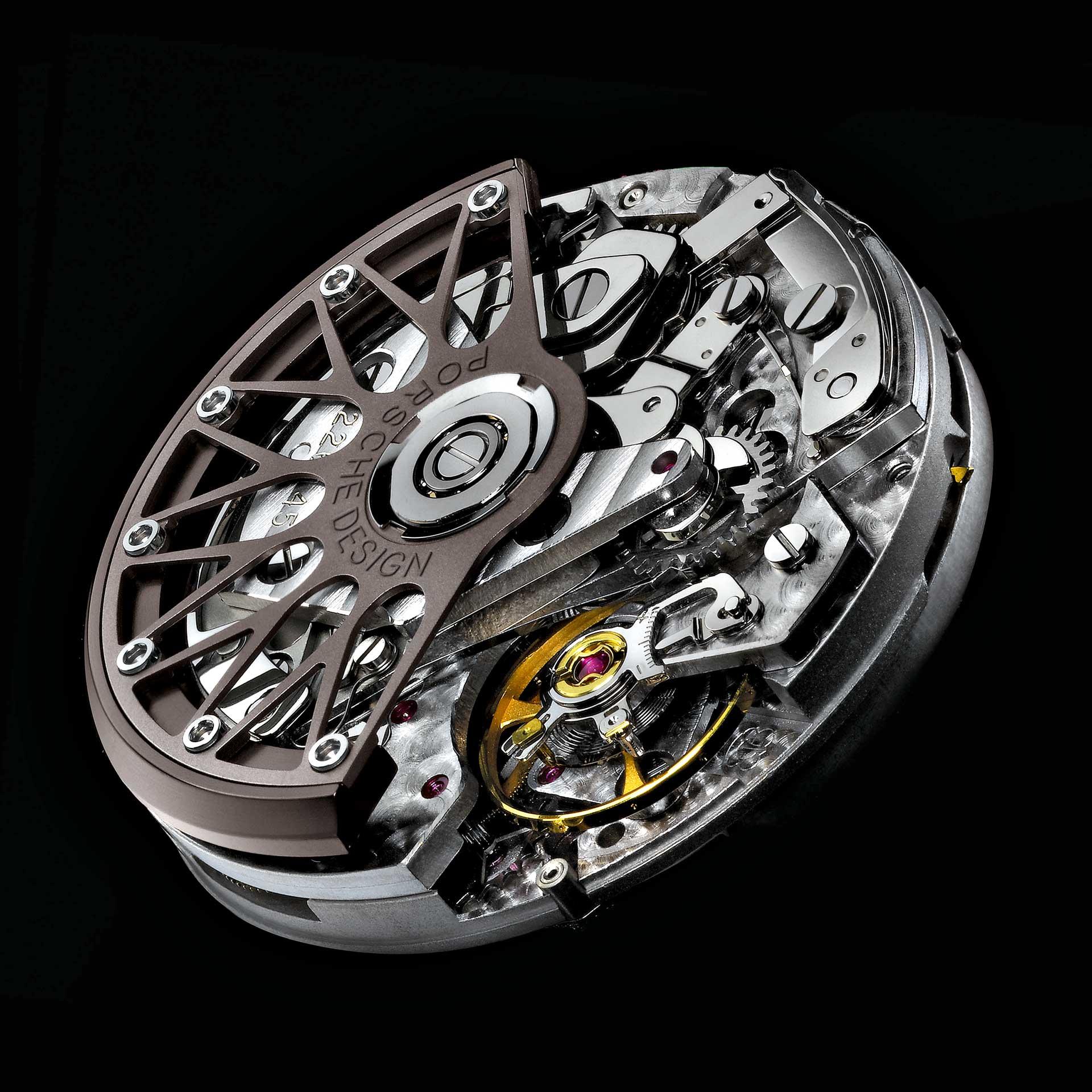 Porsche Design betont mit dem Rotor den Aspekt des Motorsports: Die Gestaltung der Rotorwangen erinnert an Sportwagenfelgen.