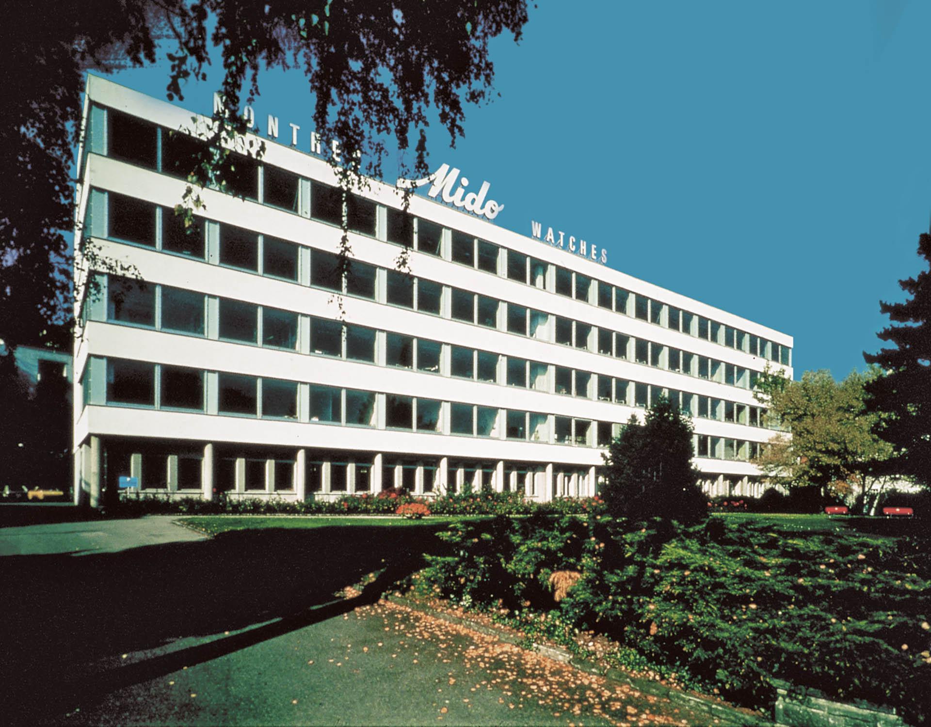 Mido-Fabrikgebäude 1946