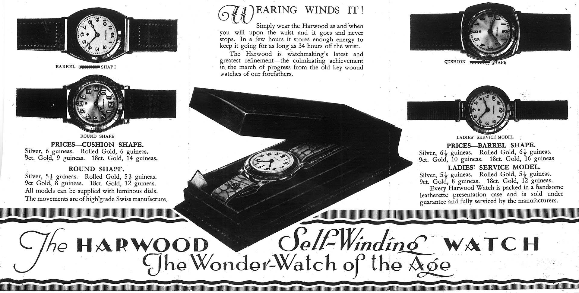 Mit John Harwoods «Selfwinding» fiel 1926 der Startschuss