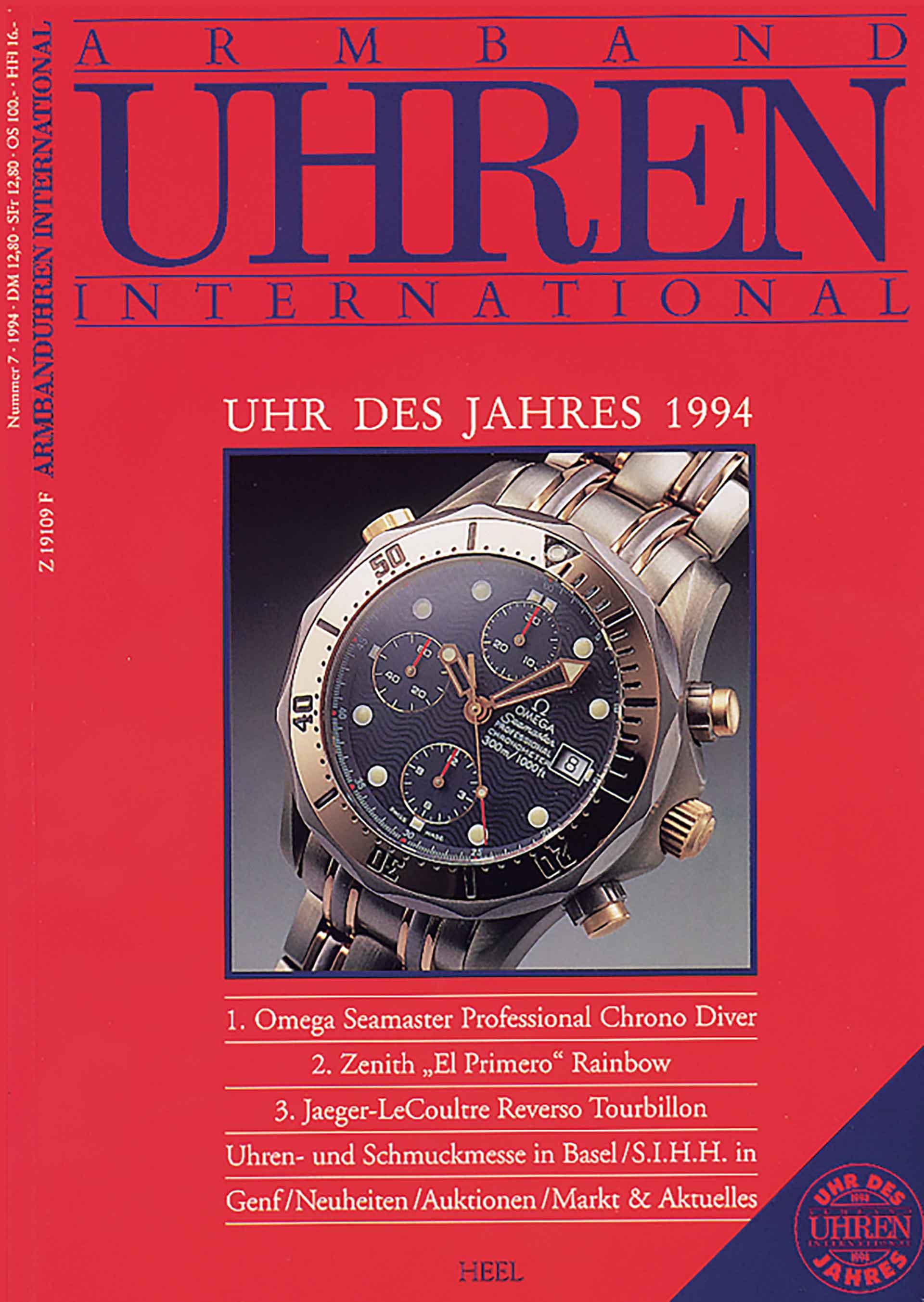 Die erste Titelseite des Magazins ARMBANDUHREN.