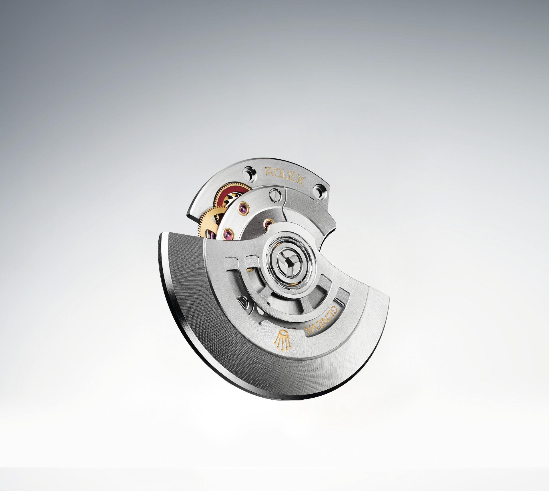 Die Rotor-Aufzugsgruppe eines modernen Rolex-Automatikkalibers
