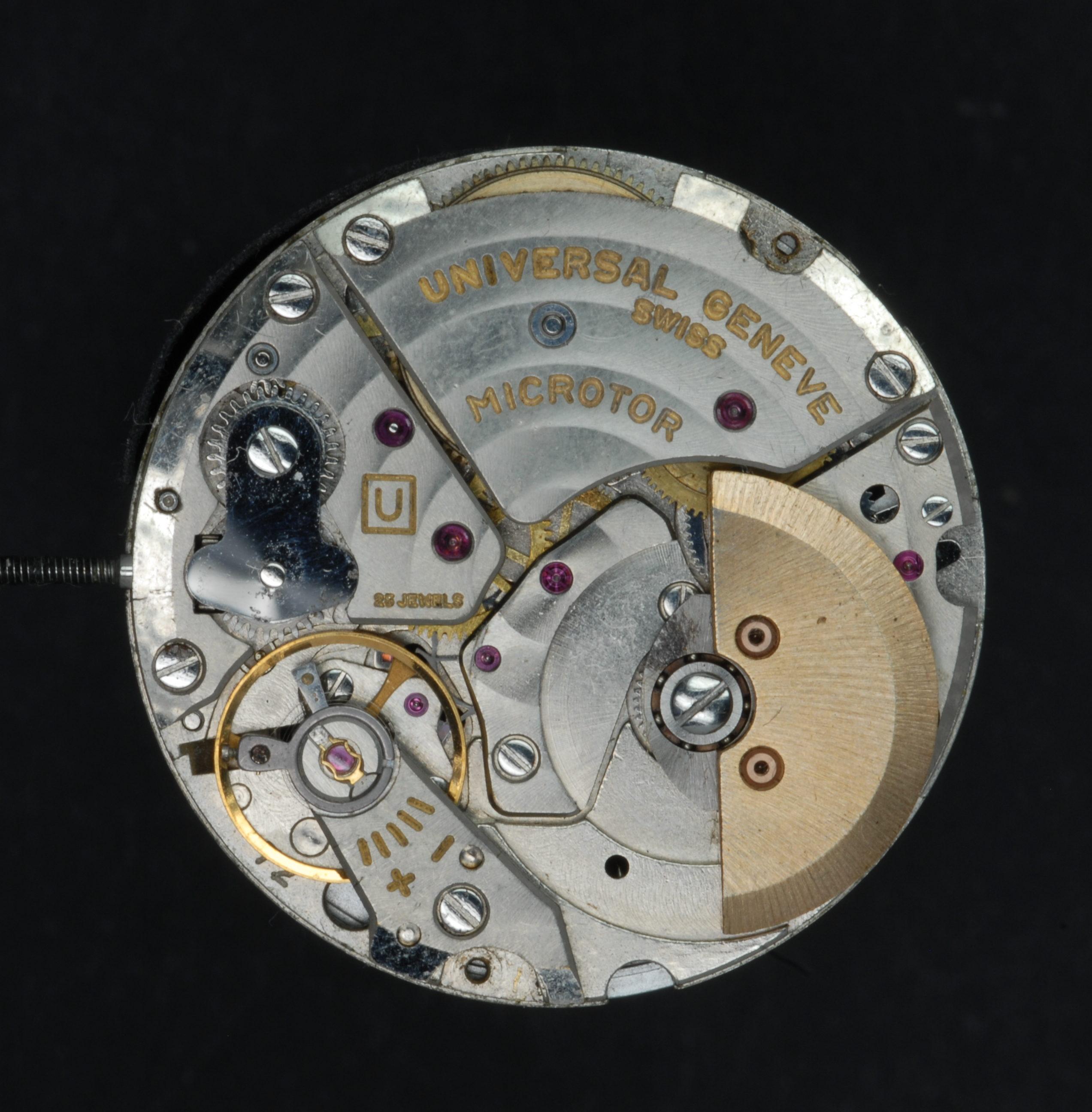 Microrotor-Kaliber von Universal Geneve konnte erst nach Einigung mit Büren vermarktet werden