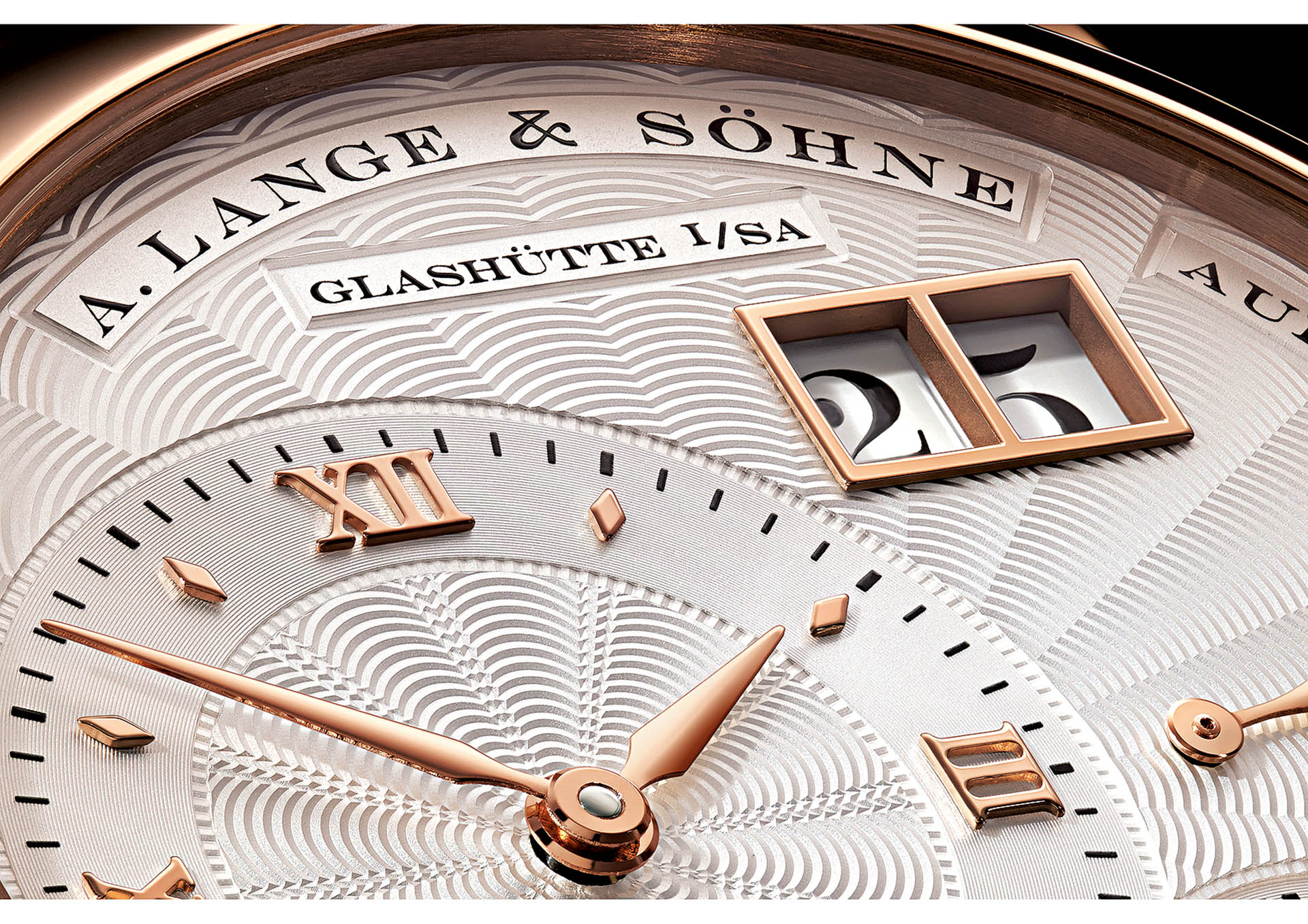 Top: Das Großdatum, hier von A. Lange & Söhne.