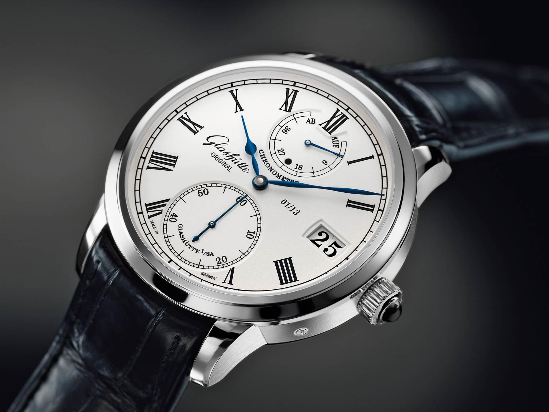 Senator Chronometer von Glashütte Original mit Handaufzugskaliber 58-01.