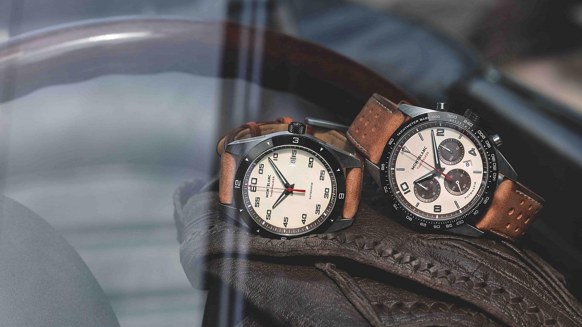 TimeWalker «Cappuccino-Edition» von Montblanc: Chronograph und Drei-Zeiger-Automatik.
