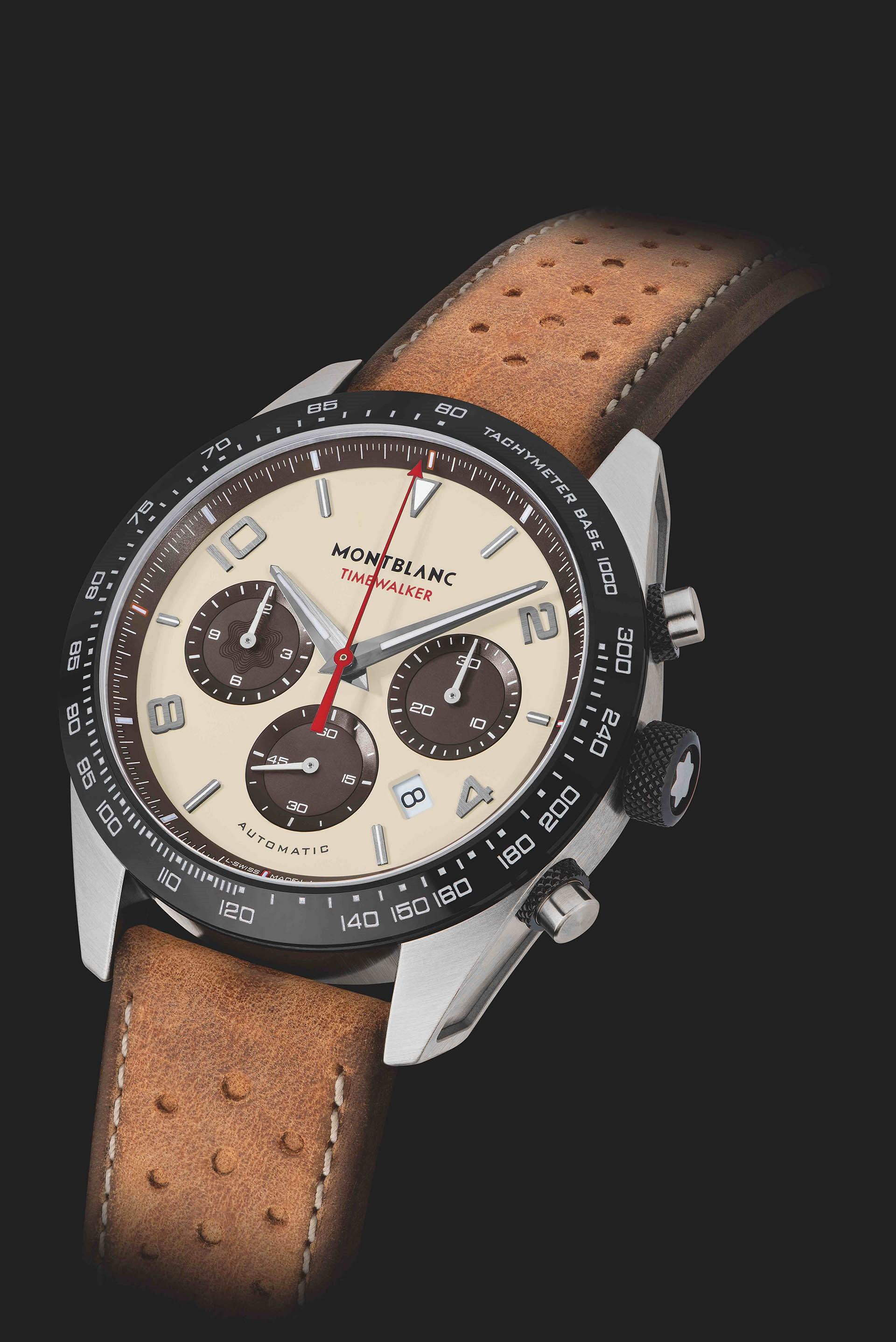 Der TimeWalker Manufacture Chronograph hat ein klassisches «Panda»-Zifferblatt.