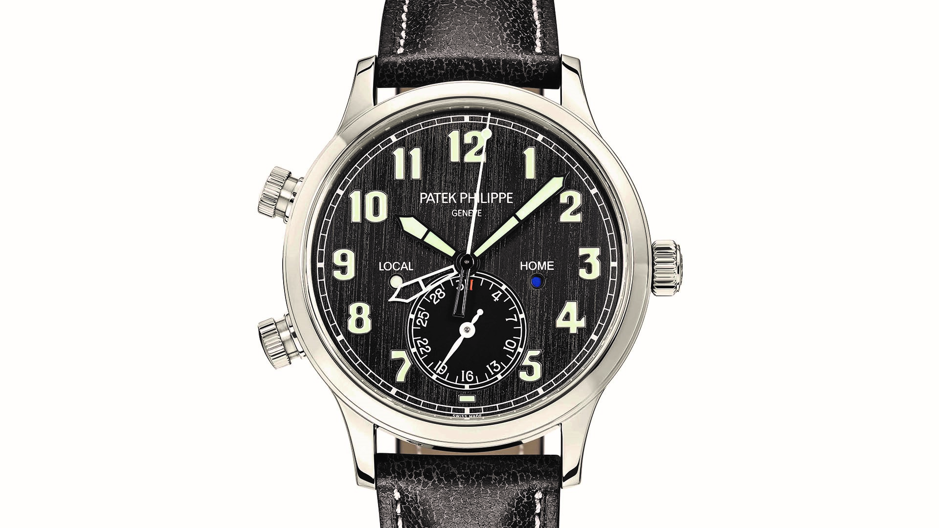 Calatrava Pilot Travel Time Referenz 5524 von Patek Philippe.