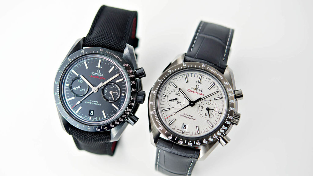 Omega Speedmaster Co-Axial Chronometer grey side of the moon und dark side of the moon
