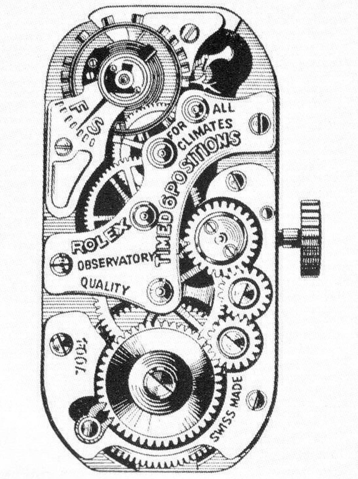 Rolex Prince Handaufzug Uhrwerk