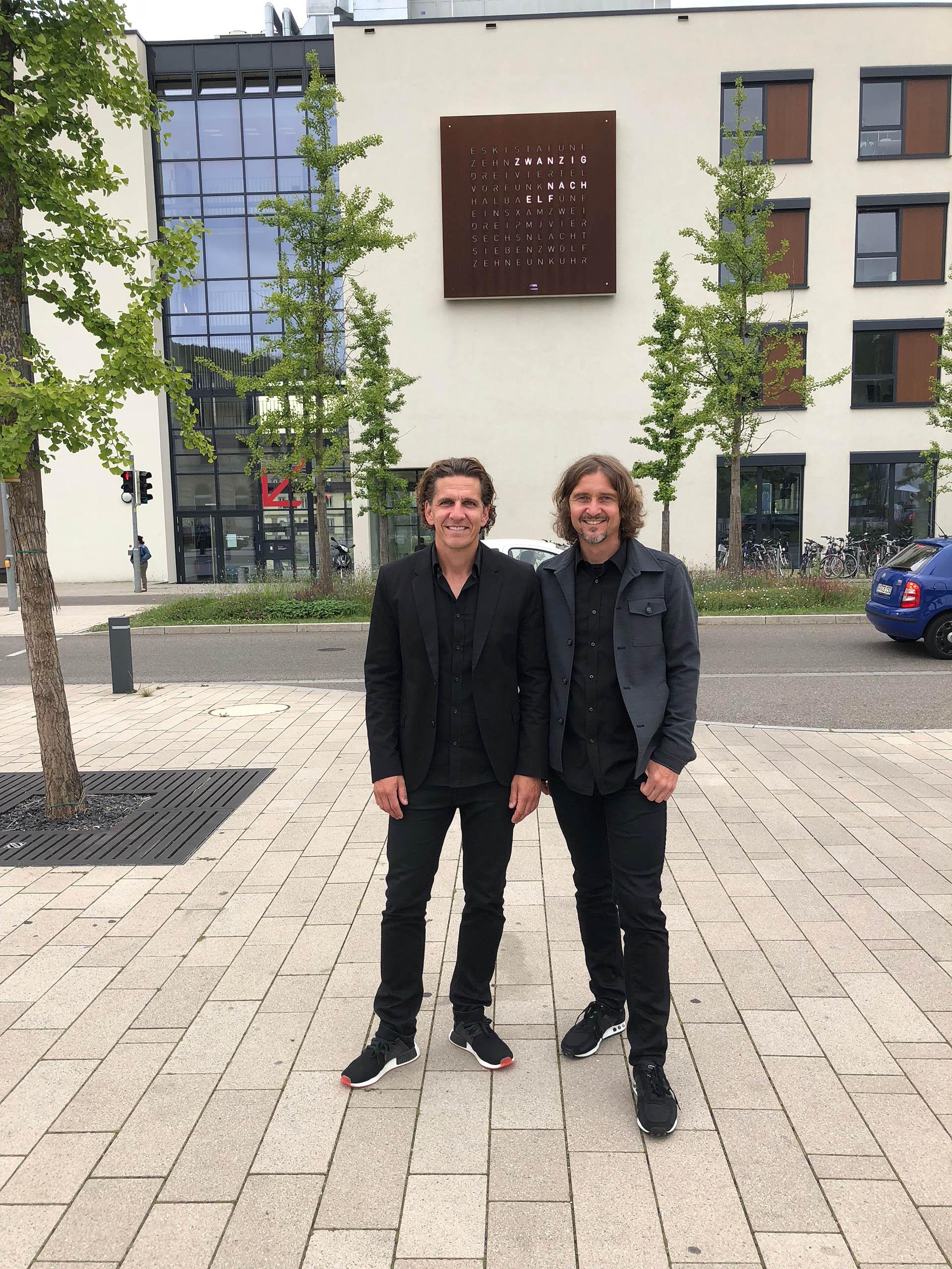 Marco Biegert und Andreas Funk Qlocktwo