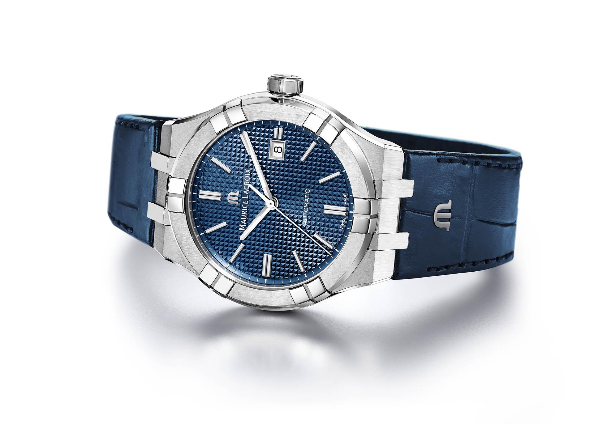 Armbanduhr Maurice Lacroix Aikon Automatic mit Lederband