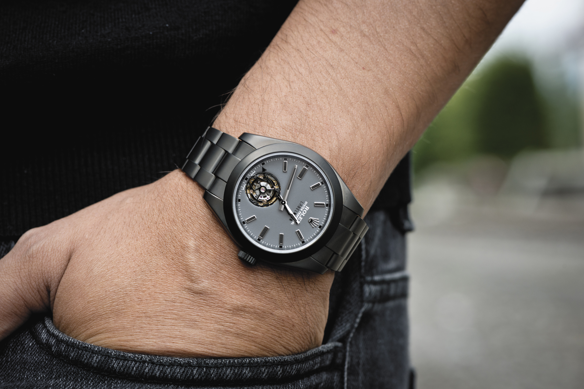 Label Noir Milgauss mit Tourbillon