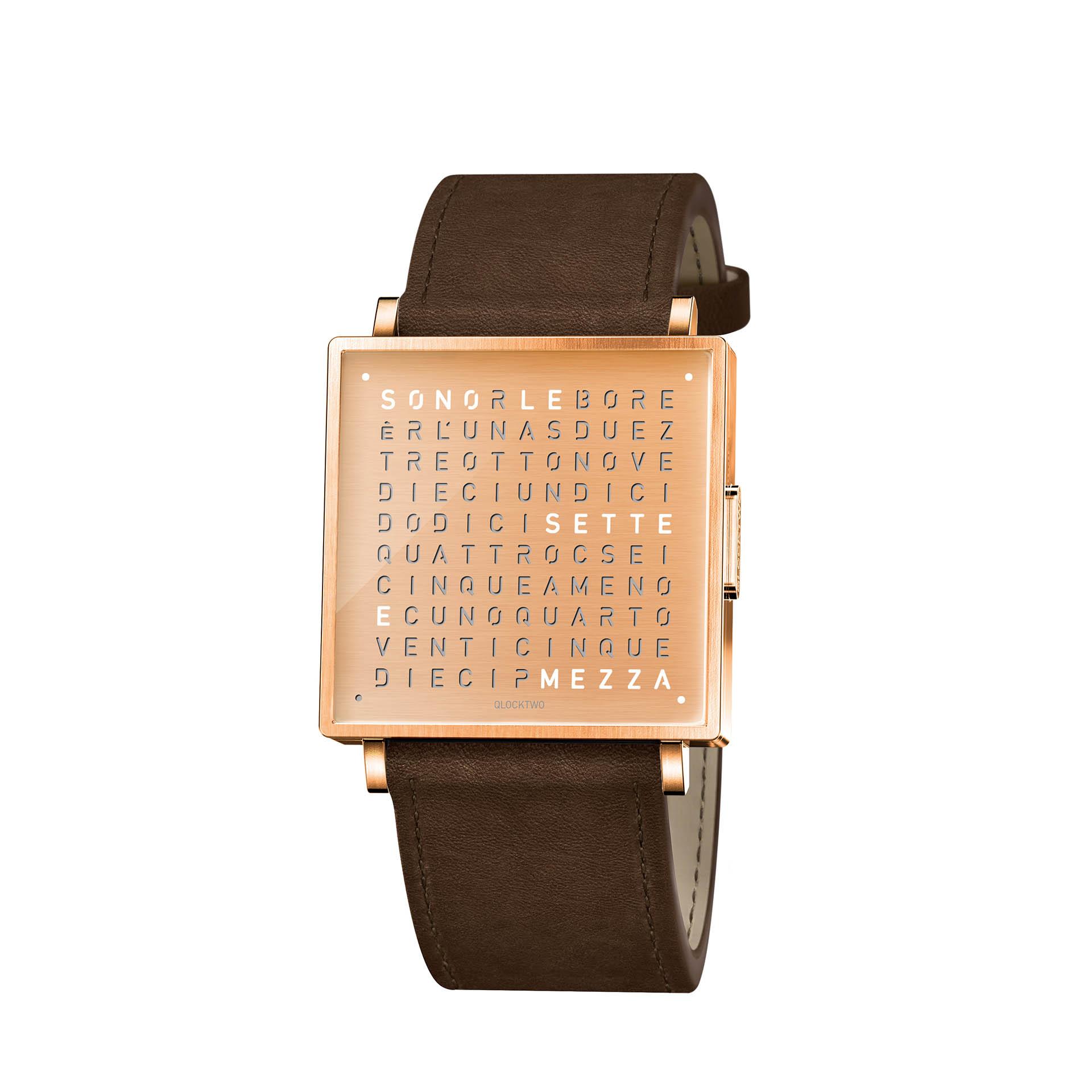 Qlocktwo Armbanduhr W35 Copper