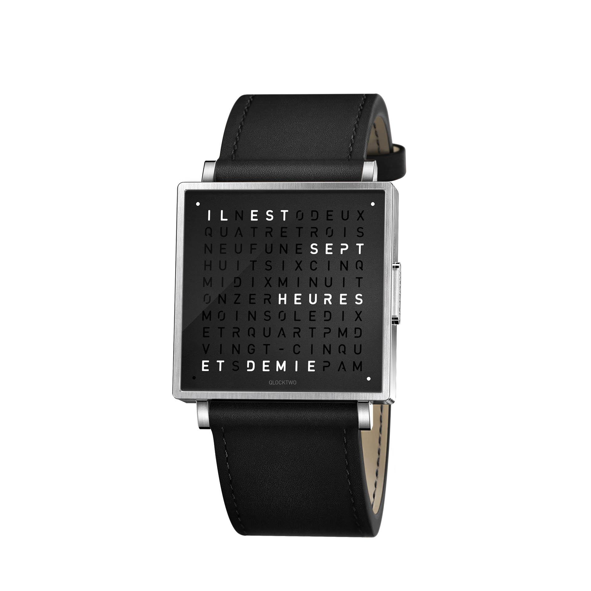 Qlocktwo Armbanduhr W35 Pure Black