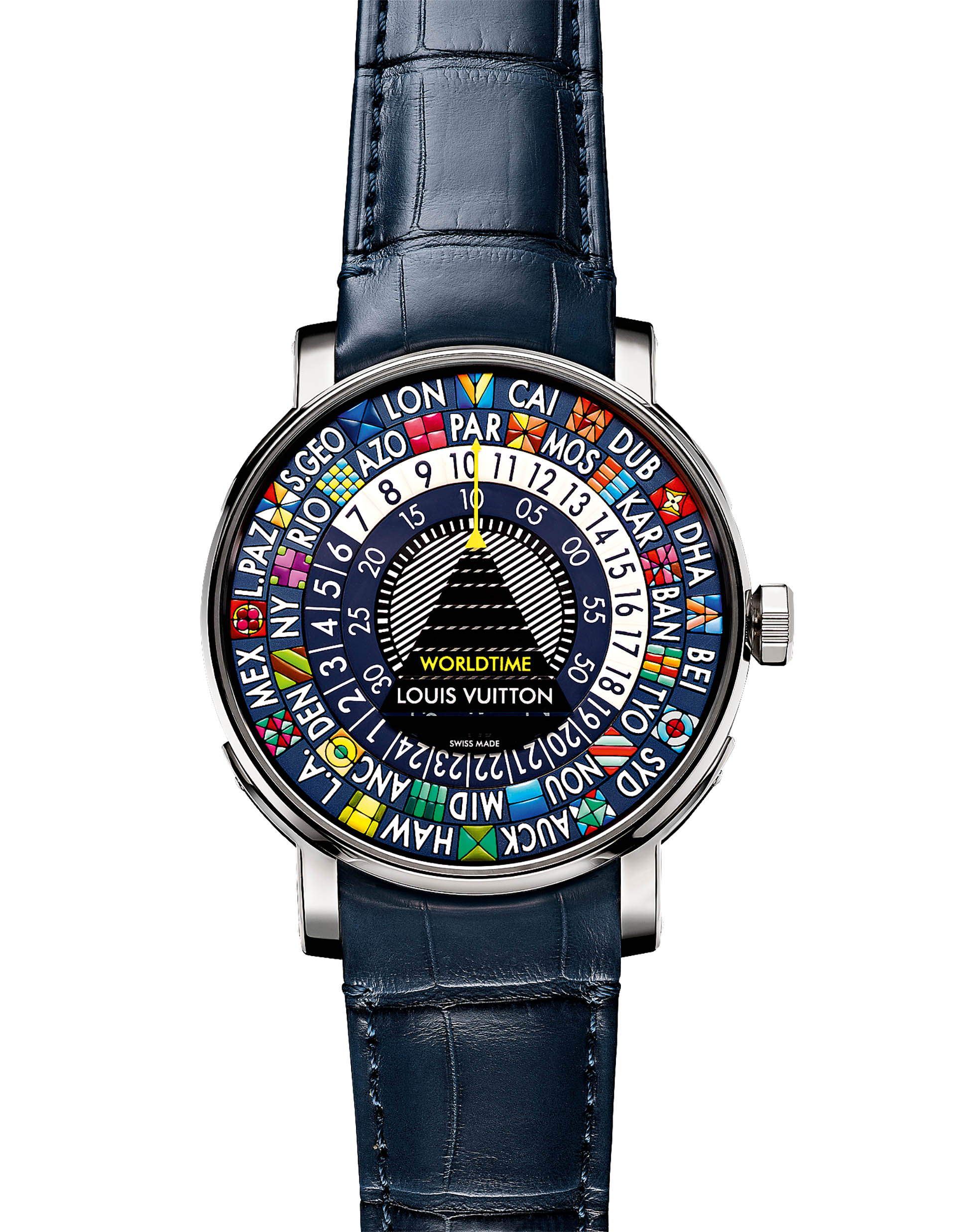 LOUIS VUITTON Escale Worldtime Blue