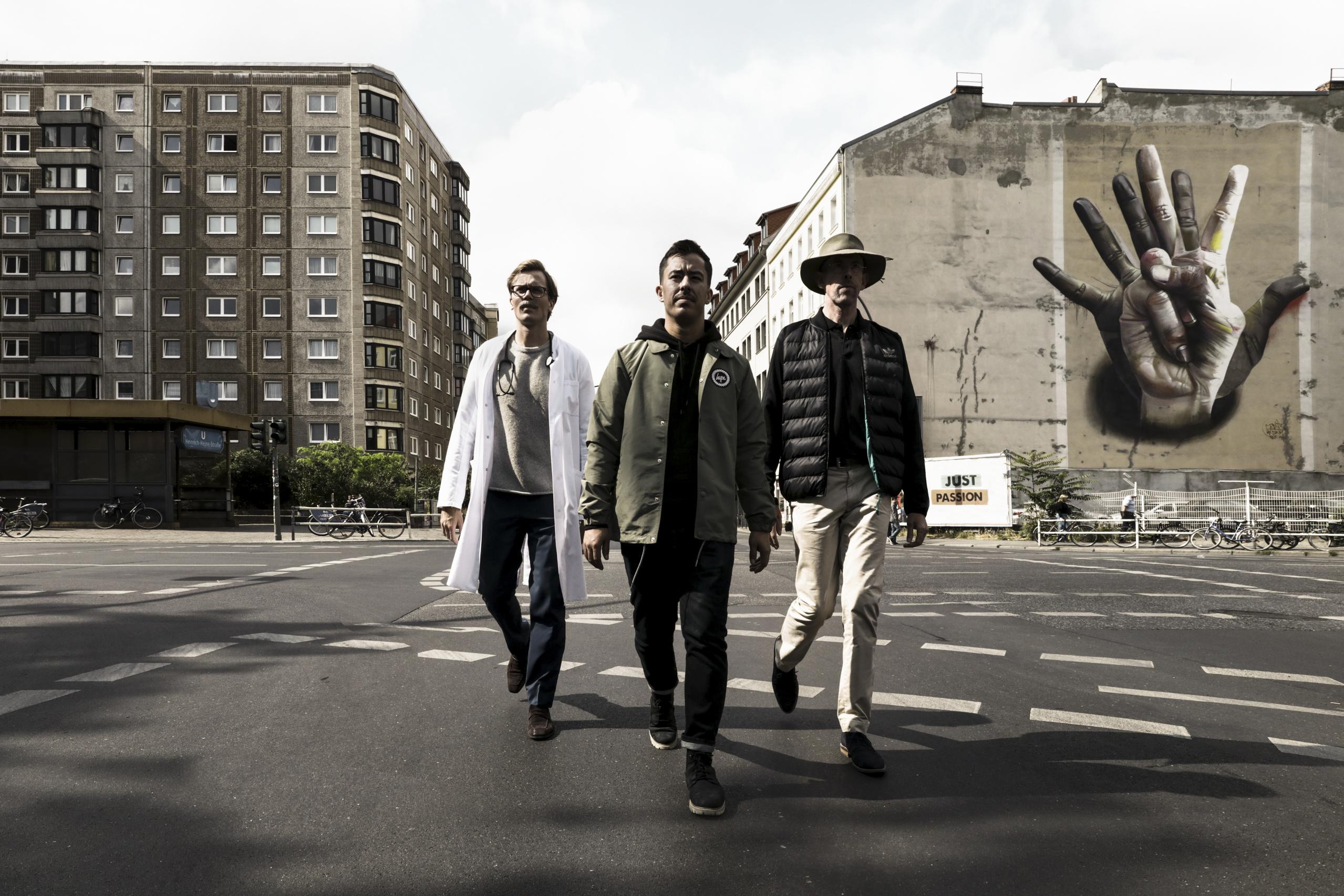 Die Oris Movember Crew: Dr. Johannes Wimmer, Miguel Gutierrez und Scott Poynton