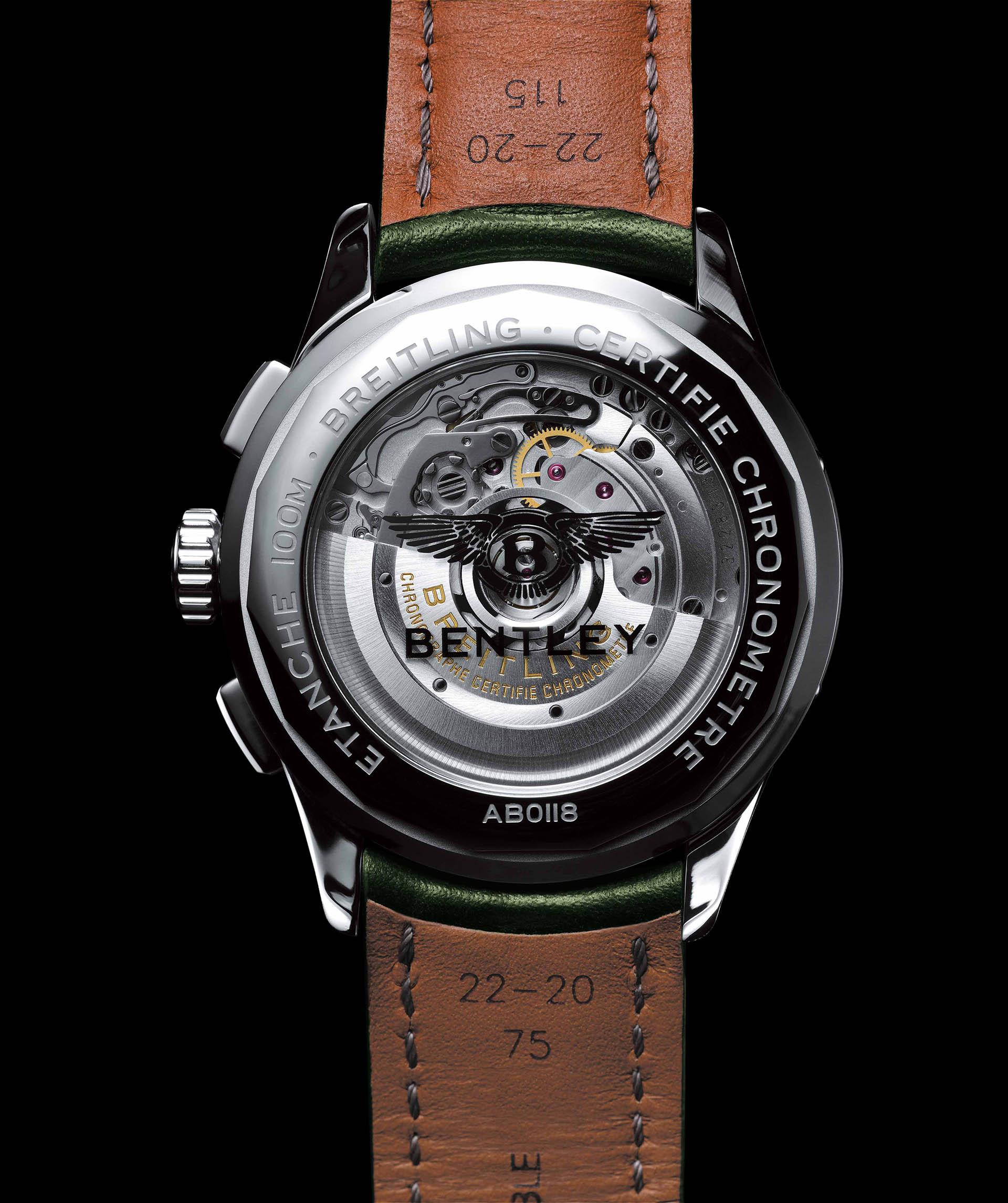 Der neue Bentley-Chronograph hat ein Manufakturkaliber B01