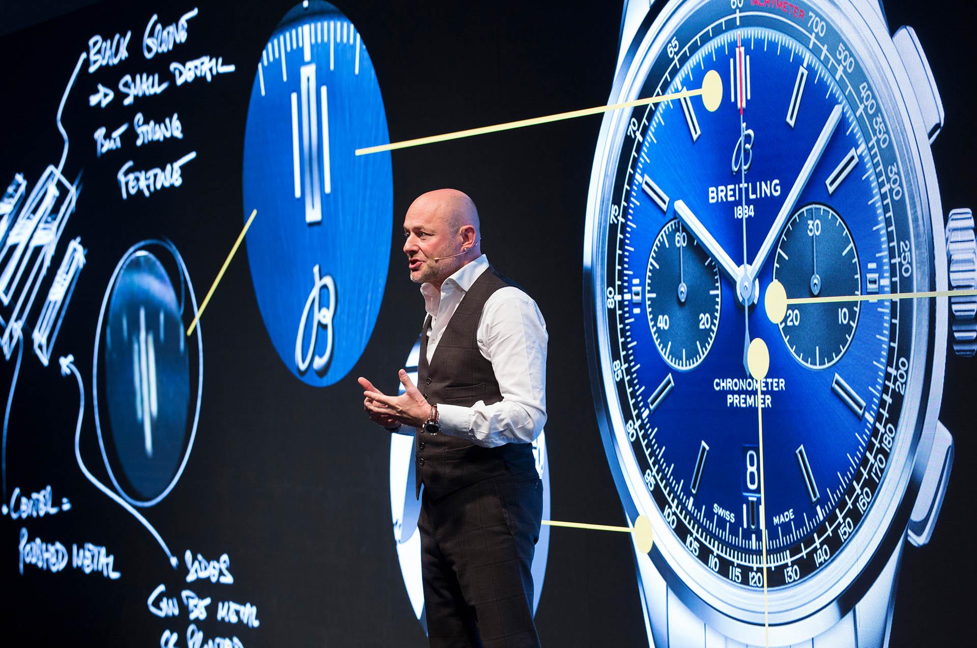 Georges Kern auf dem Breitling Summit in London am 22. Oktober 2018