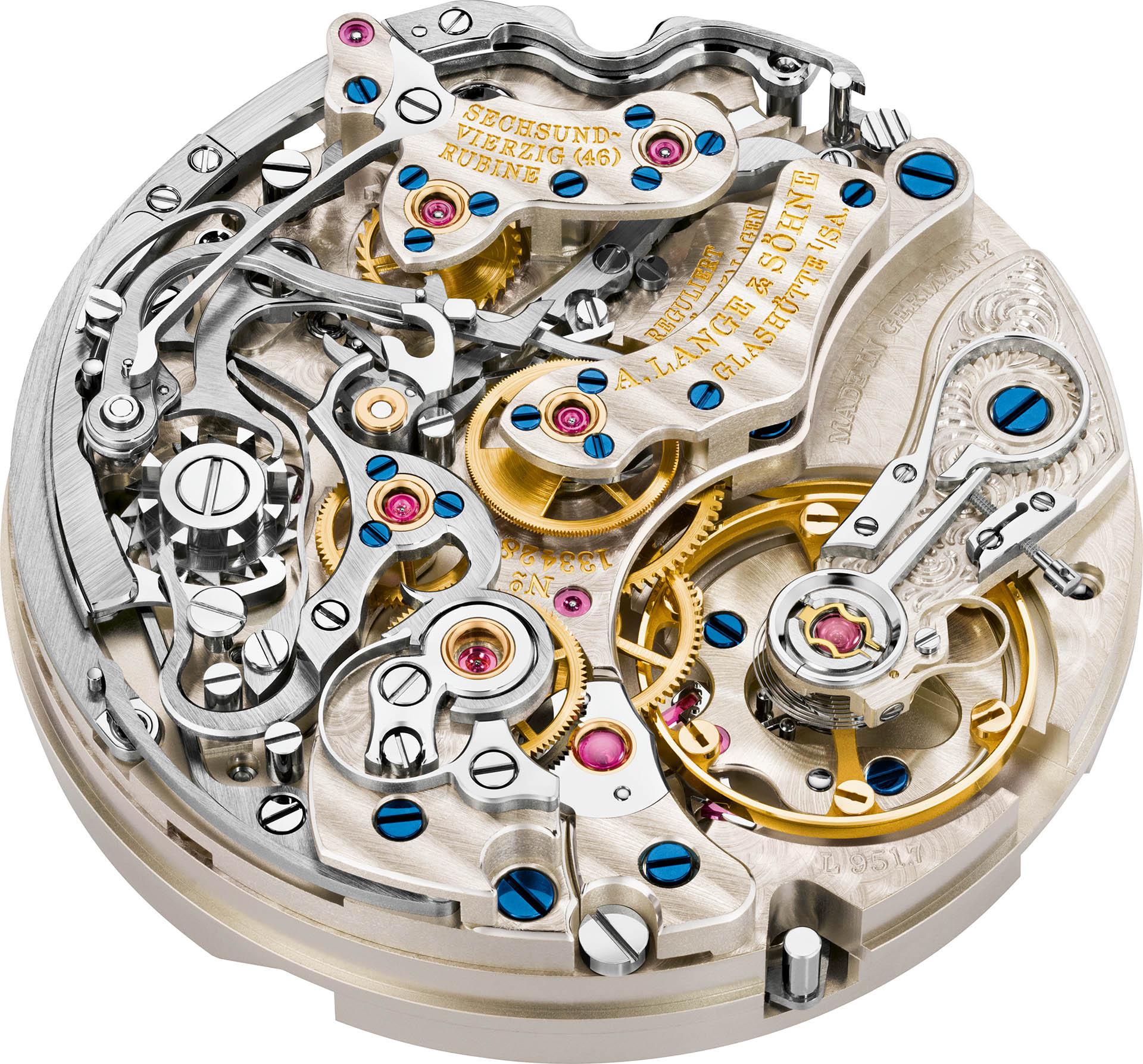 Das Lange-Handaufzugskaliber L951.7 ist ein Chronograph der Extraklasse.