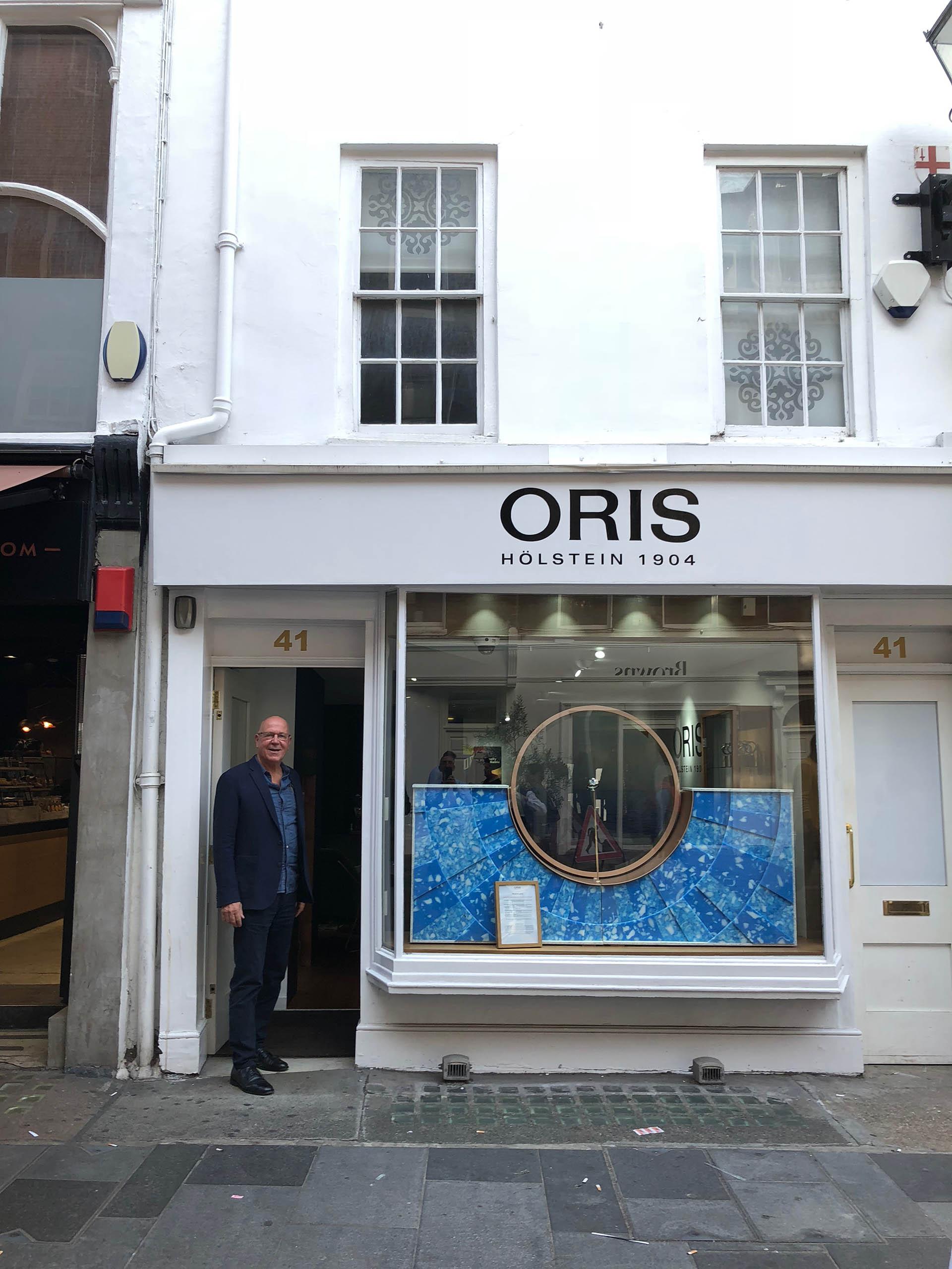 Ulrich W. Herzog im Oris Popup-Store im Londoner Viertel Mayfair