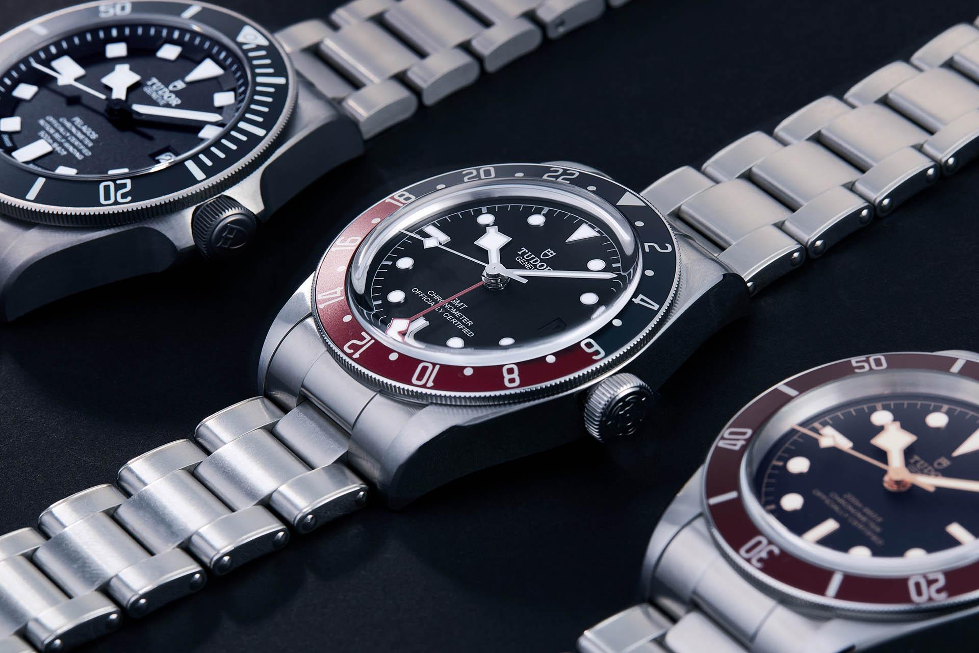 Fast so begehrt wie die «Pepsi» von Rolex: Die «Pepsi light» von Tudor, ebenfalls eine GMT-Uhr.