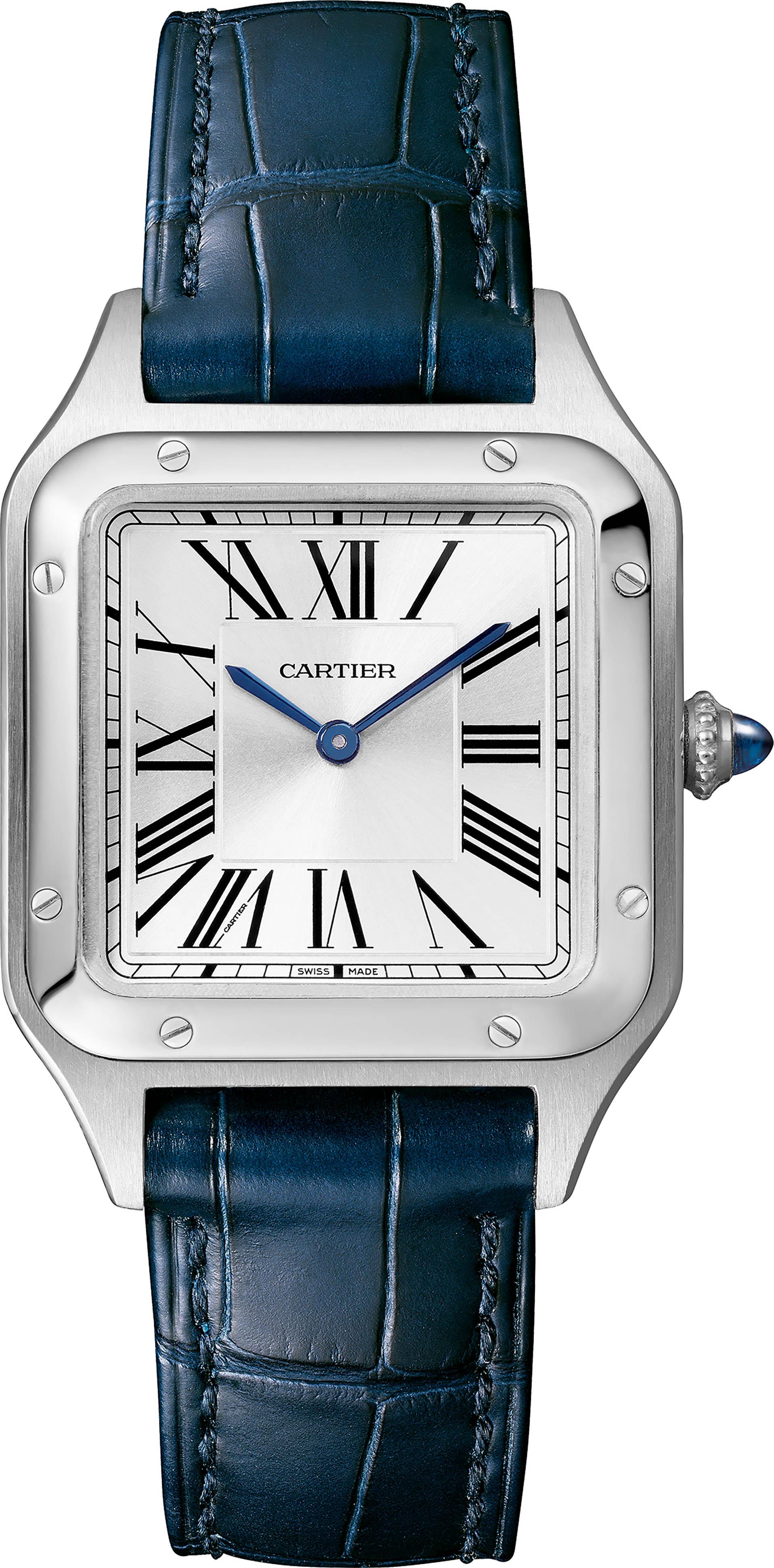 Cartier Santos-Dumont in Edelstahl