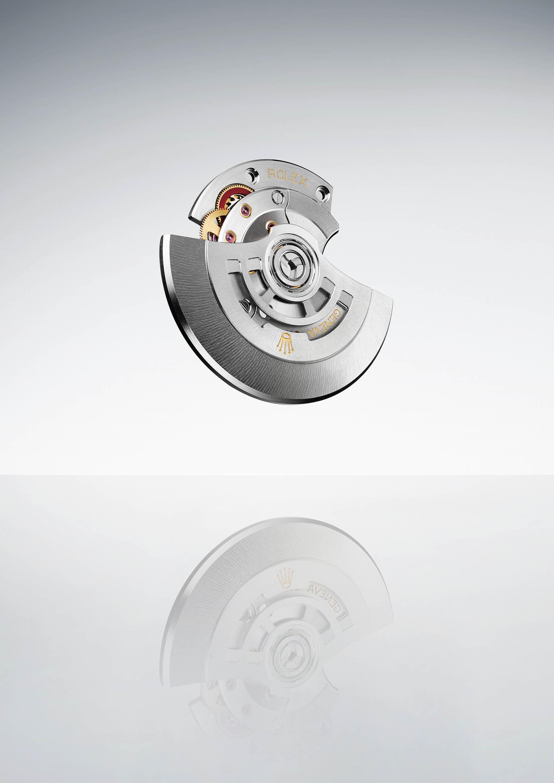 Rolex-Aufzugsrotor der aktuellen Kaliberfamilien.