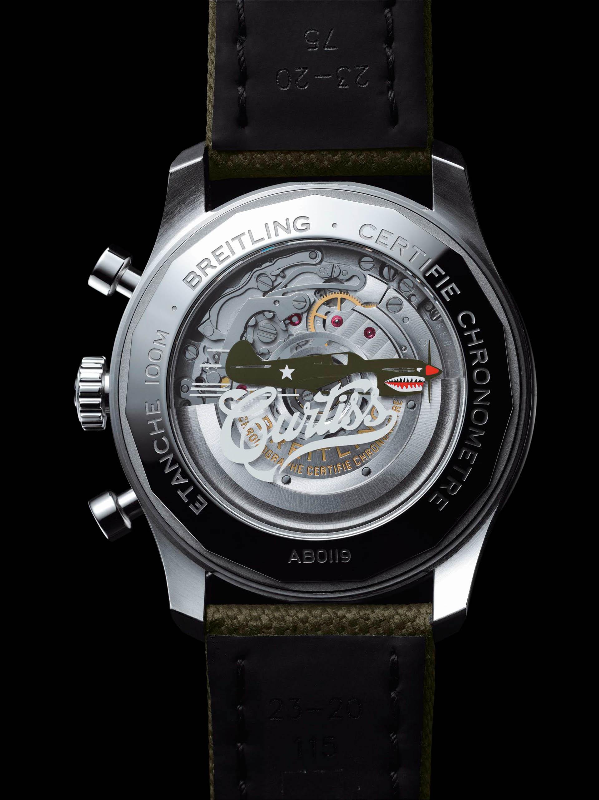Das Uhrwerk vom Kaliber B01 der Curtiss Warhawk