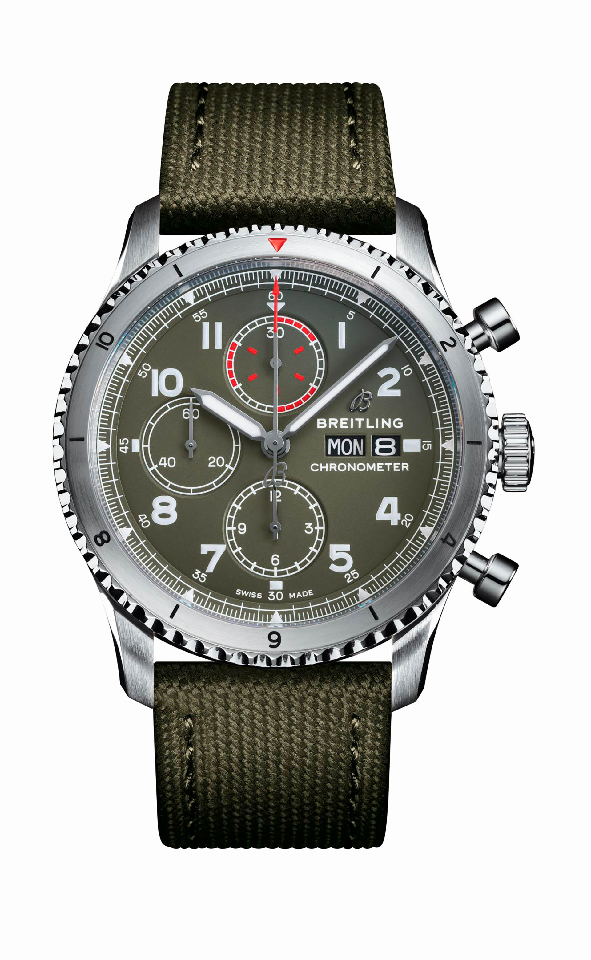 Aviator 8 Chronograph 43 Curtiss Warhawk mit Valjoux-Technik