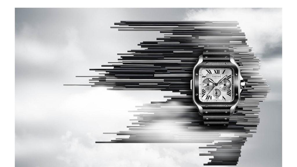 Cartier Santos Chronograph Automatique mit Gliederband