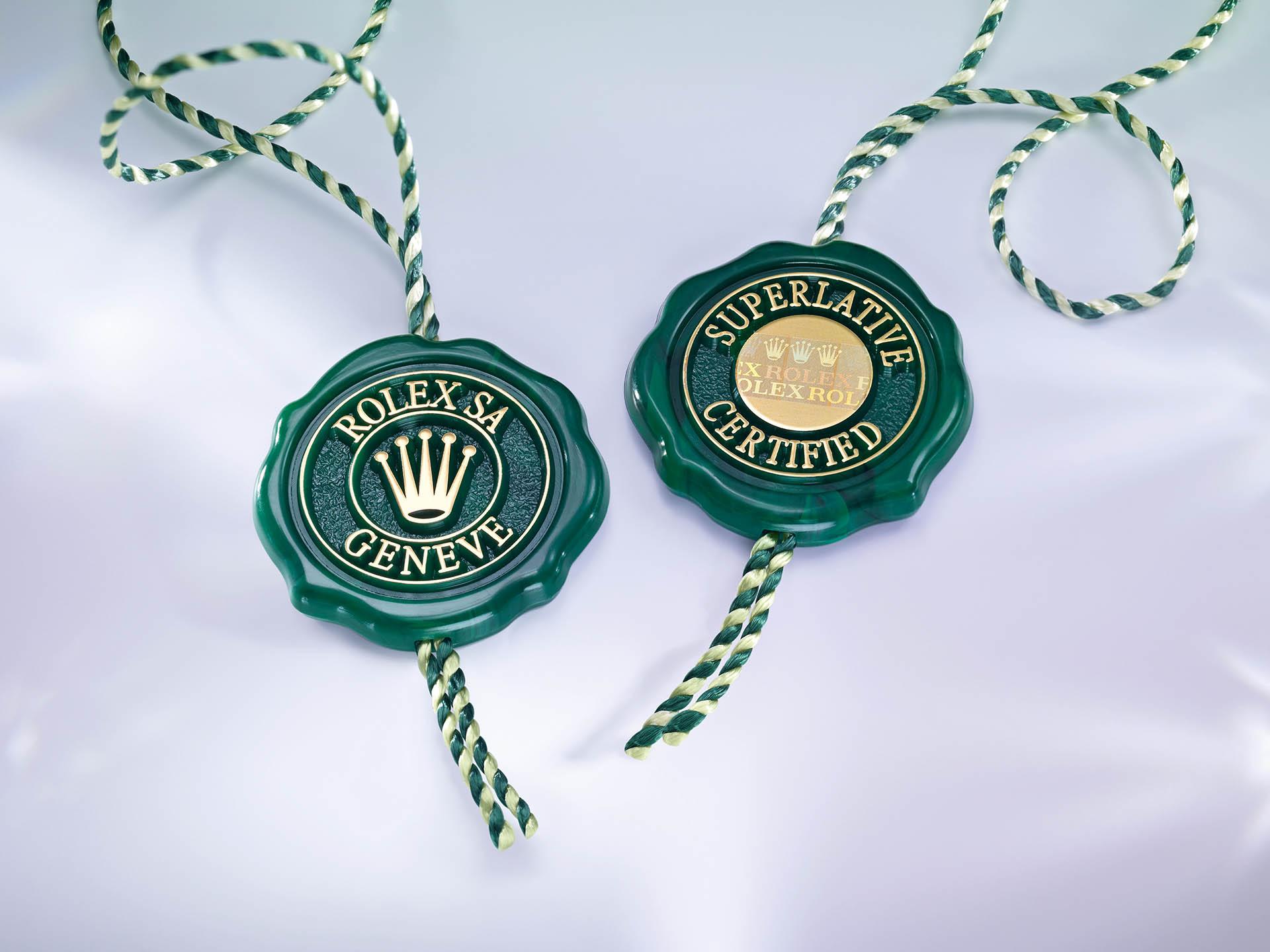 Das grüne Rolex-Siegel