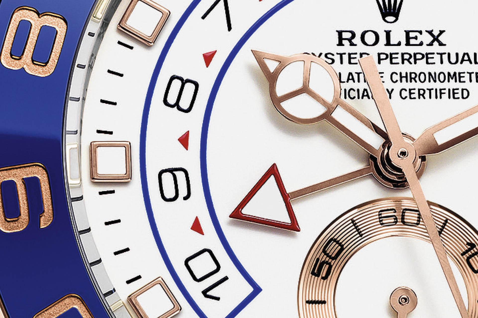 Countdown-Skala mit Pfeilzeiger bei der Rolex Yachtmaster II