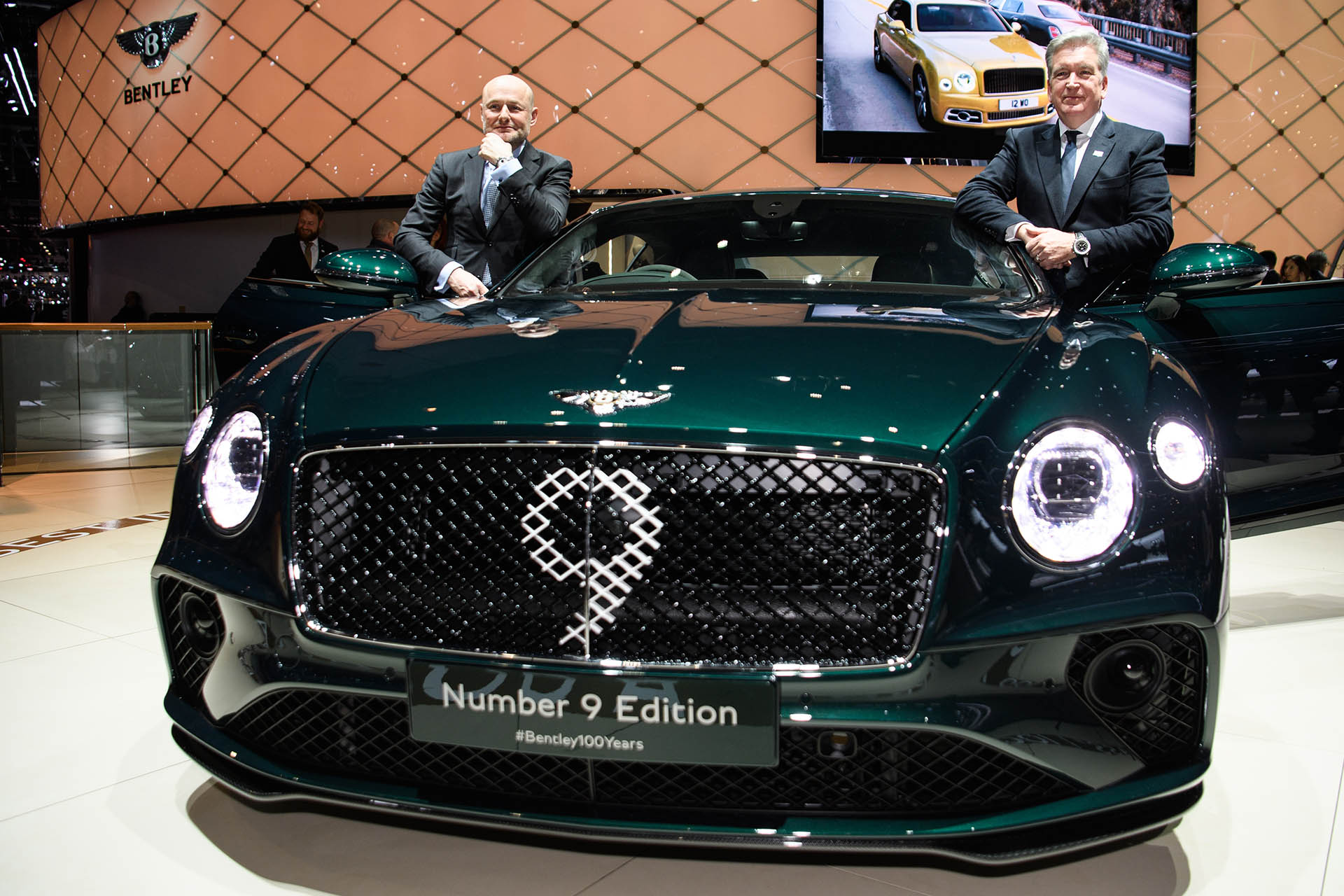 Launch der Premier Bentley Centenary Limited Edition auf dem Genfer Automobilsalon am 5. März 2019