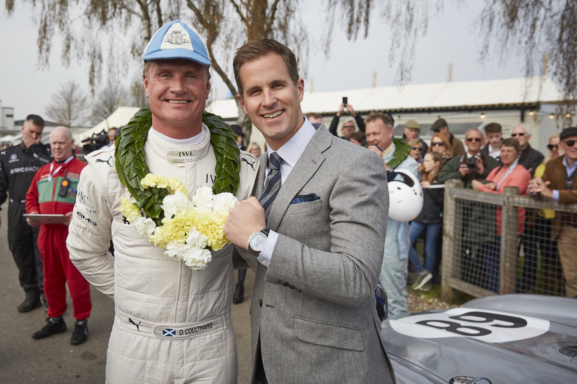 Christoph Grainger (IWC) und David Coulthard