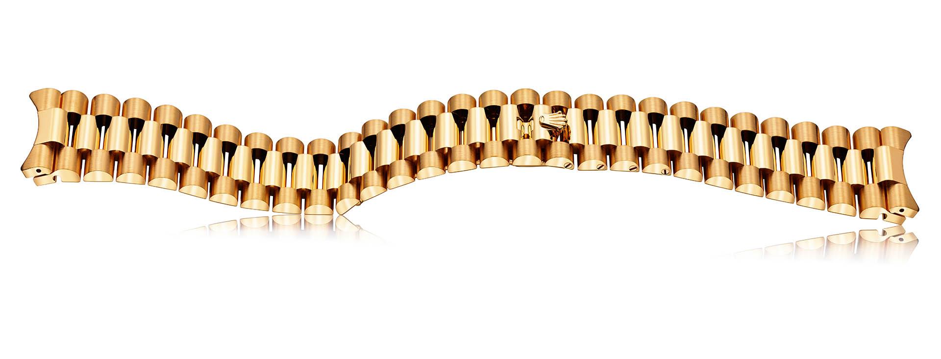 Rolex Präsident-Band mit Crownclasp-Schließe