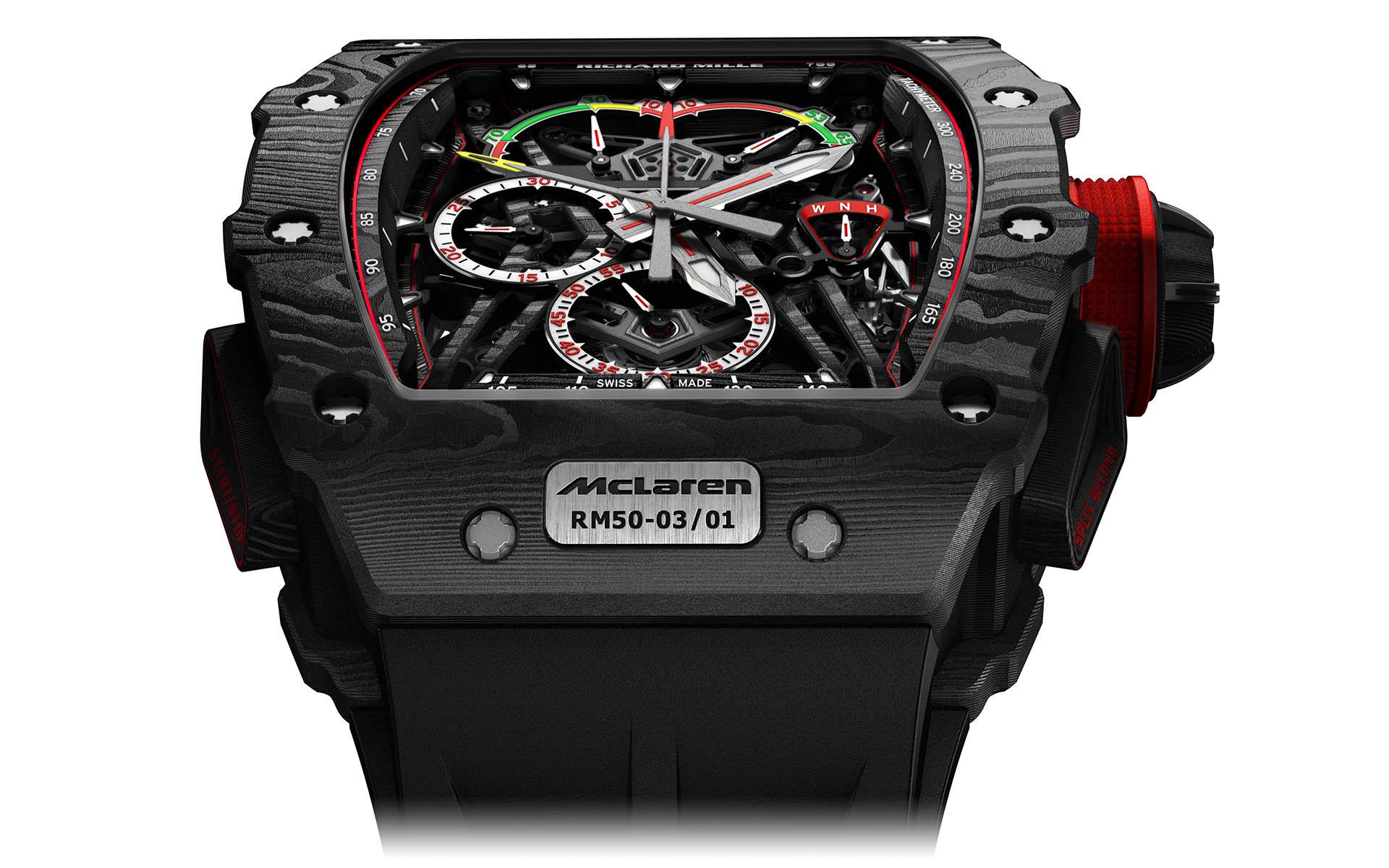 Richard Mille RM50-03 mit Graphen-Gehäuse, Kooperation mit McLaren