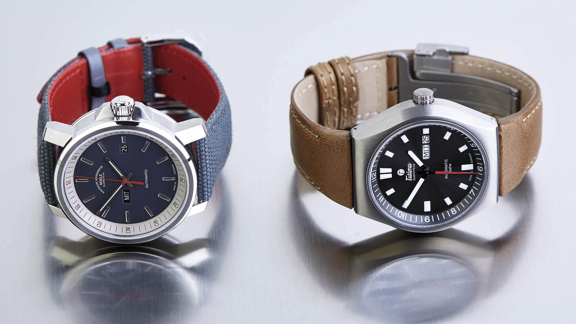 Armbanduhren im Vergleich Mühle-Glashütte und Tutima