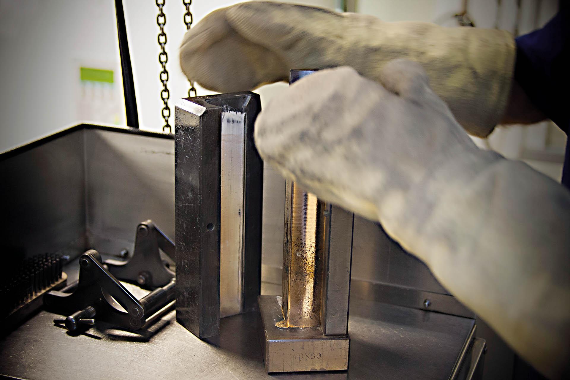 Herstellung der Goldlegierung bei Chopard